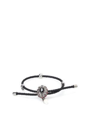 Alexander Mcqueen: Bracelets & Bangles - Friendship Jewel black bracelet
