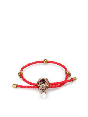 Alexander Mcqueen: Bracelets & Bangles - Friendship Jewel red bracelet