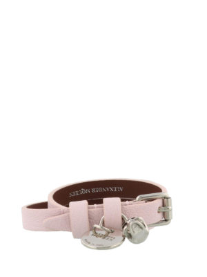 Alexander Mcqueen: Bracelets & Bangles online - Double wrap leather Skull bracelet