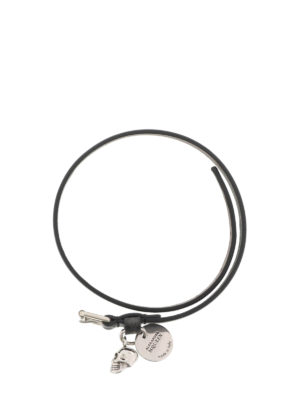 Alexander Mcqueen: Bracelets & Bangles online - Double wrap skull leather bracelet