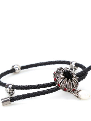 Alexander Mcqueen: Bracelets & Bangles online - Friendship Jewel black bracelet