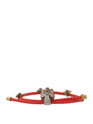 Alexander Mcqueen: Bracelets & Bangles online - Leather bracelet with crystals