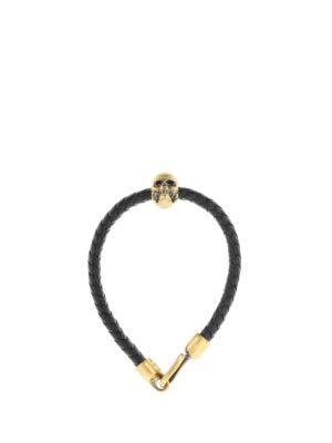 Alexander Mcqueen: Bracelets & Bangles online - Leather bracelet with skull