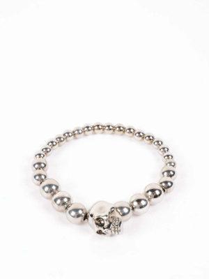 Alexander Mcqueen: Bracelets & Bangles online - Skull brass bracelet