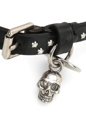 Alexander Mcqueen: Bracelets & Bangles online - Skull charm and star wrap bracelet