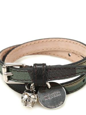 Alexander Mcqueen: Bracelets & Bangles online - Skull charm double wrap bracelet