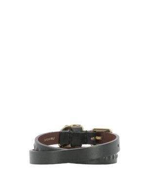 Alexander Mcqueen: Bracelets & Bangles online - Skull detail double wrap bracelet