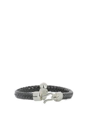 Alexander Mcqueen: Bracelets & Bangles online - Skull embellished leather bracelet
