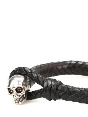 Alexander Mcqueen: Bracelets & Bangles online - Skull leather bracelet