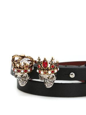 Alexander Mcqueen: Bracelets & Bangles online - Twin Swarovski Skull bracelet