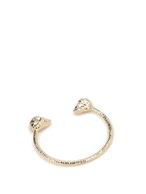 Alexander Mcqueen: Bracelets & Bangles - Twin Skull brass bracelet