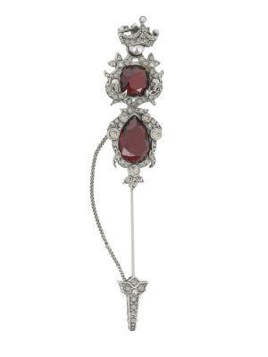 Alexander Mcqueen: Brooches - Embellished antique brass brooch