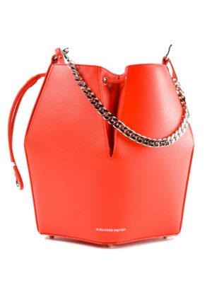ALEXANDER MCQUEEN: Secchielli - Borsa The Bucket Bag rosso carminio