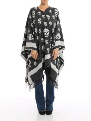 Alexander Mcqueen: Capes &  Ponchos online - Skull pattern wool cape