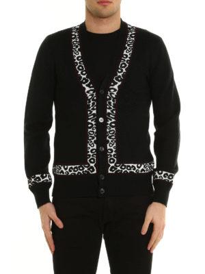 Alexander Mcqueen: cardigans online - Leopard-skin detail cardigan