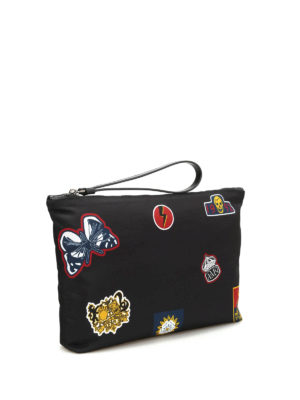 Alexander Mcqueen: Cases & Covers online - Emblem print pouch