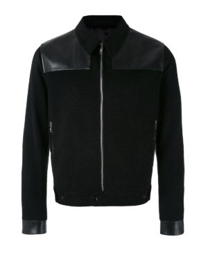 Alexander Mcqueen: casual jackets - Cashmere and leather crop jacket