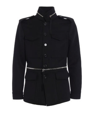 Alexander Mcqueen: casual jackets - Wool and cashmere field jacket