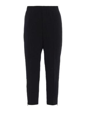ALEXANDER MCQUEEN: pantaloni casual - Pantaloni neri sportivi in crepe