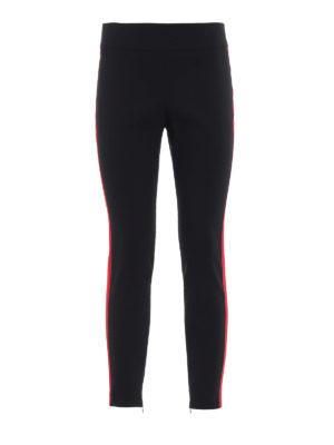ALEXANDER MCQUEEN: pantaloni casual - Pantaloni in lana con bande in gros grain