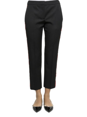 Alexander Mcqueen: casual trousers online - Wool cropped trousers