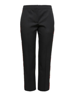 Alexander Mcqueen: casual trousers - Wool cropped trousers