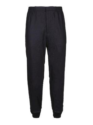ALEXANDER MCQUEEN: pantaloni casual - Pantaloni in lana con fondo elasticizzato