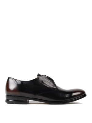 Alexander Mcqueen: classic shoes - Faded brushed leather classic shoes