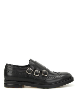 Alexander Mcqueen: classic shoes - Leather monk straps