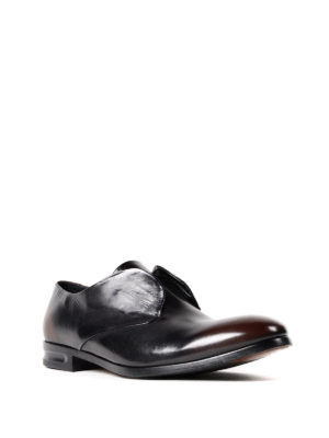 Alexander Mcqueen: classic shoes online - Faded brushed leather classic shoes
