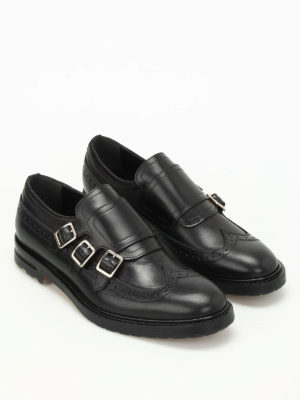 Alexander Mcqueen: classic shoes online - Leather monk straps