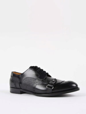 Alexander Mcqueen: classic shoes online - Strap detail Derby brogue shoes