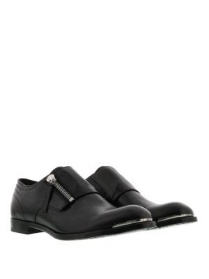 Alexander Mcqueen: classic shoes online - Zip detailed leather shoes