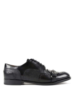 Alexander Mcqueen: classic shoes - Strap detail Derby brogue shoes