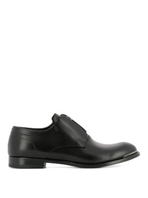 Alexander Mcqueen: classic shoes - Zip detail leather Derby shoes