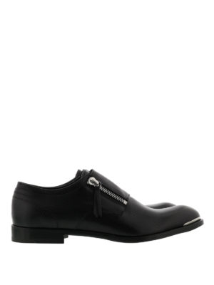 Alexander Mcqueen: classic shoes - Zip detailed leather shoes