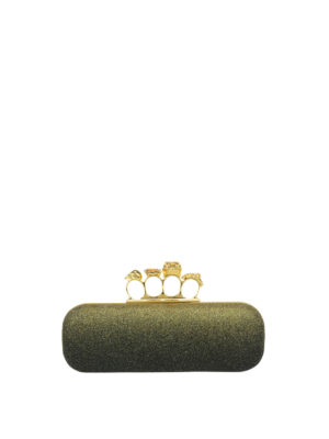 Alexander Mcqueen: clutches - Box clutch with metal rings