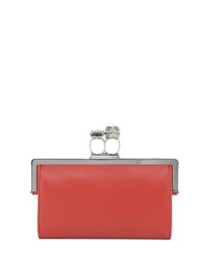 ALEXANDER MCQUEEN: pochette - Mini clutch con doppio anello gioiello