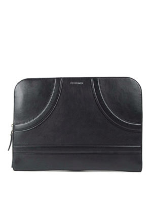 Alexander Mcqueen: clutches - Leather maxi clutch
