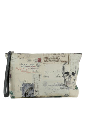 Alexander Mcqueen: clutches - Letters from India printed clutch