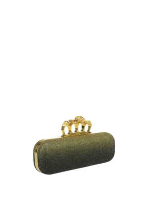 Alexander Mcqueen: clutches online - Box clutch with metal rings