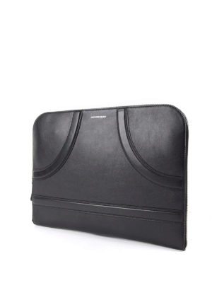Alexander Mcqueen: clutches online - Leather maxi clutch