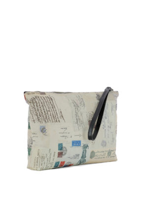 Alexander Mcqueen: clutches online - Letters from India printed clutch