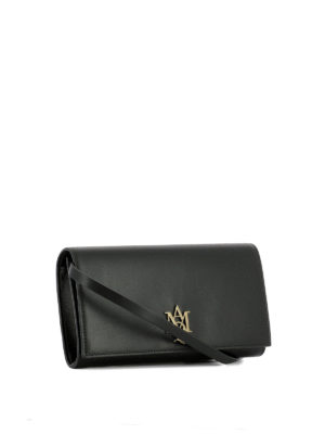 Alexander Mcqueen: clutches online - Monogram leather clutch