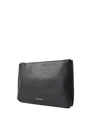 Alexander Mcqueen: clutches online - Soft leather top zip medium pouch