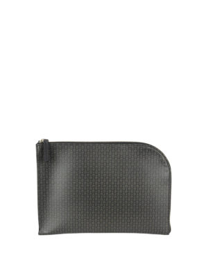 Alexander Mcqueen: clutches - Skull printed leather small clutch