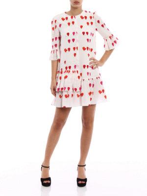 Alexander Mcqueen: cocktail dresses online - Ruffled petal print silk over dress