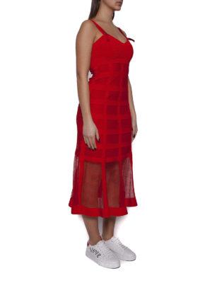 Alexander Mcqueen: cocktail dresses online - See-through detail silk blend dress
