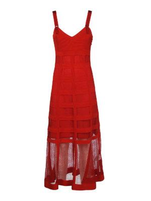 Alexander Mcqueen: cocktail dresses - See-through detail silk blend dress