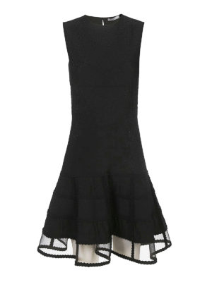 Alexander Mcqueen: cocktail dresses - See-through panel detailed dress